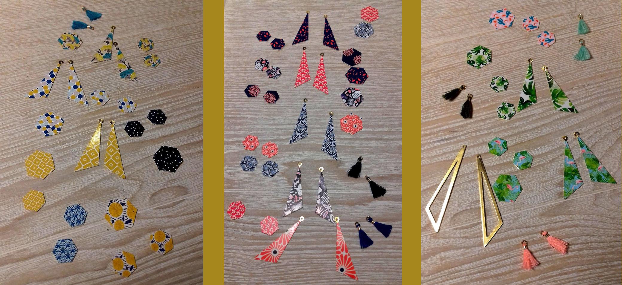 Assemblage des bijoux de créateurs résinés
