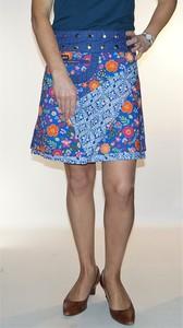 Jupe portefeuille à taille réglable, jupe qui est réversible !